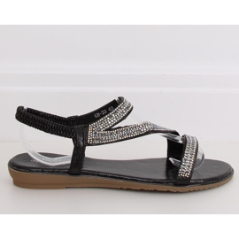 Sandals asymmetrical black KM-33 Black 2