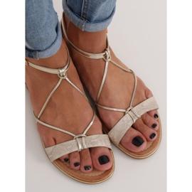 Gold women's sandals JH123P Gold golden 4
