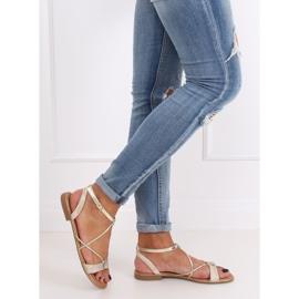 Gold women's sandals JH123P Gold golden 3
