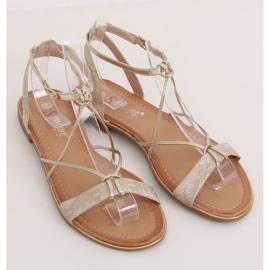 Gold women's sandals JH123P Gold golden 1