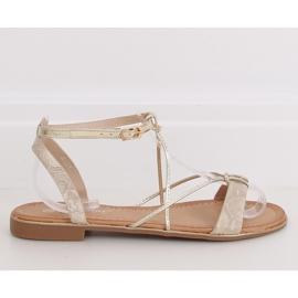 Gold women's sandals JH123P Gold golden 2