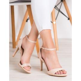 SHELOVET Classic Suede Heels brown 1