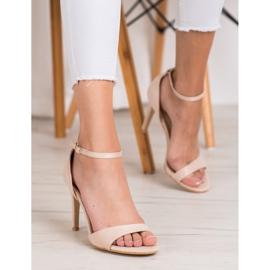 SHELOVET Classic Suede Heels brown 5