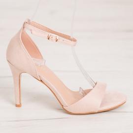 SHELOVET Classic Suede Heels brown 2