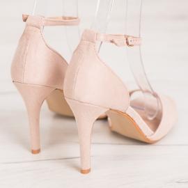 SHELOVET Classic Suede Heels brown 3