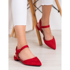 Goodin Red Pumps With An Open Heel 2