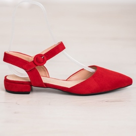 Goodin Red Pumps With An Open Heel 4