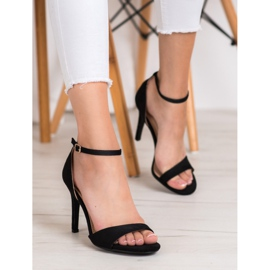 SHELOVET Classic Suede Heels black 5