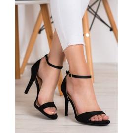 SHELOVET Classic Suede Heels black 1