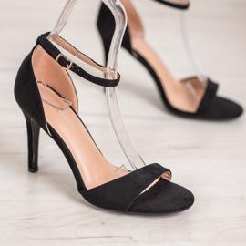 SHELOVET Classic Suede Heels black 2