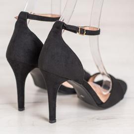 SHELOVET Classic Suede Heels black 3