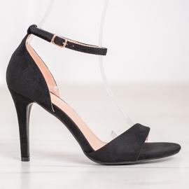 SHELOVET Classic Suede Heels black 4