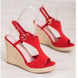 Goodin Built-in Espadrilles sandals red 2