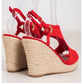 Goodin Built-in Espadrilles sandals red 3