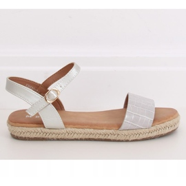 Gray espadrilles sandals WH939 Gray grey 2