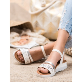 Renda Wedge Sandals With Eco Leather white 3
