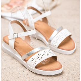 Renda Wedge Sandals With Eco Leather white 1