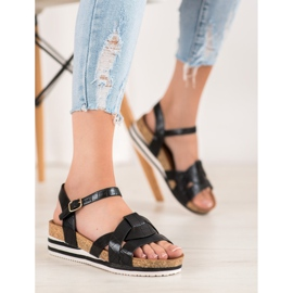Comer Black Sandals With Eco Leather 1