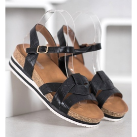 Comer Black Sandals With Eco Leather 5