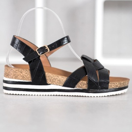 Comer Black Sandals With Eco Leather 3