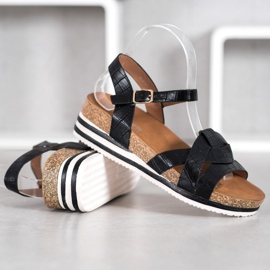 Comer Black Sandals With Eco Leather 4