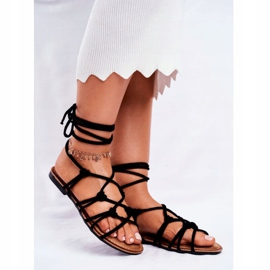 SEA Black Negros Women's Tied Sandals 1