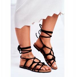 SEA Black Negros Women's Tied Sandals 3