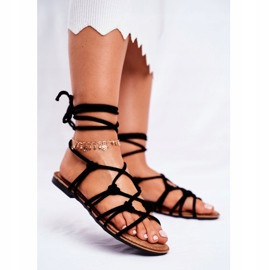 SEA Black Negros Women's Tied Sandals 2