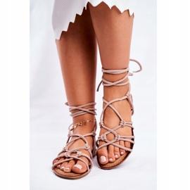 SEA Negros women's tied sandals beige 2