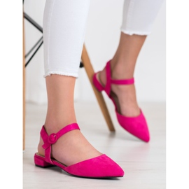 Goodin Pink Pumps With An Open Heel 1