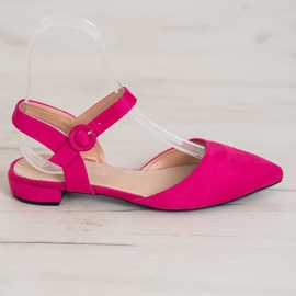 Goodin Pink Pumps With An Open Heel 3