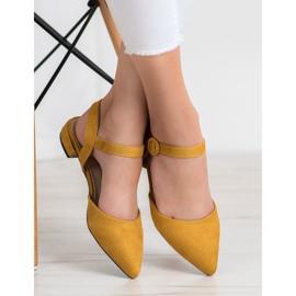 Goodin Mustard Pumps With An Open Heel yellow 1
