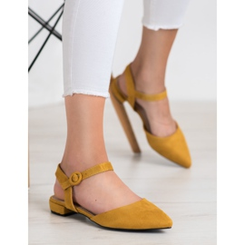 Goodin Mustard Pumps With An Open Heel yellow 4