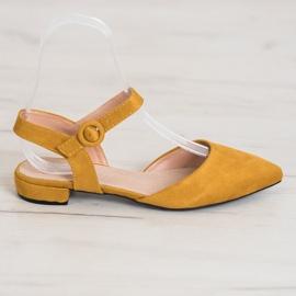 Goodin Mustard Pumps With An Open Heel yellow 3