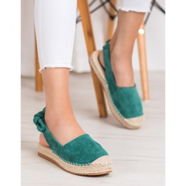 Nio Nio Espadrilles With An Open Heel green 1