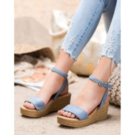 Renda Light Sandals On Wedge blue 4