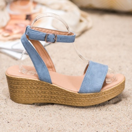 Renda Light Sandals On Wedge blue 2