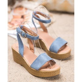 Renda Light Sandals On Wedge blue 3