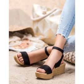 Renda Light Sandals On Wedge black 1