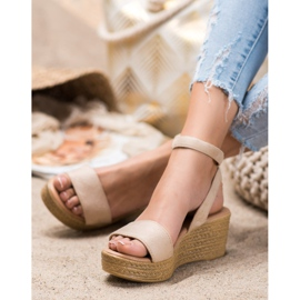 Renda Light Sandals On Wedge brown 1