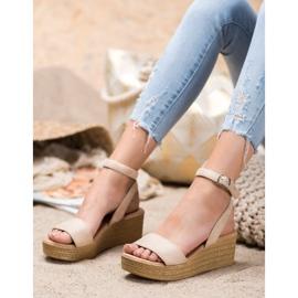 Renda Light Sandals On Wedge brown 4