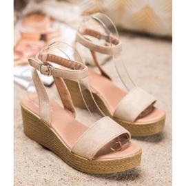 Renda Light Sandals On Wedge brown 2