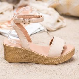 Renda Light Sandals On Wedge brown 3