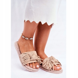 SEA Women's Slippers With Bow Beige Thailand brown 1