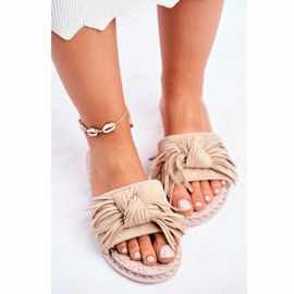SEA Women's Slippers With Bow Beige Thailand brown 5