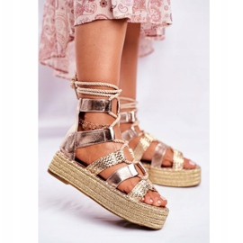 SEA Espadrilles Gold Eromica Women's Sandals On The Platform golden 2
