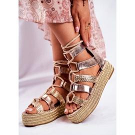 SEA Espadrilles Gold Eromica Women's Sandals On The Platform golden 6