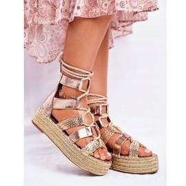 SEA Espadrilles Gold Eromica Women's Sandals On The Platform golden 1