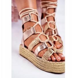 SEA Espadrilles Gold Eromica Women's Sandals On The Platform golden 4