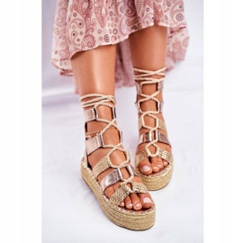 SEA Espadrilles Gold Eromica Women's Sandals On The Platform yellow 3